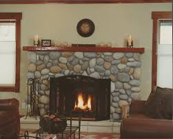 astounding faux river rock fireplace photo inspiration andrea