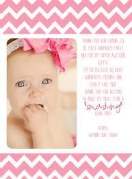 first birthday thank you card pink u0026 gold by twistedsistershop
