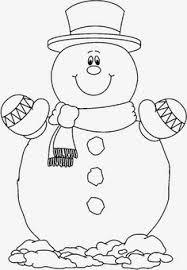 print coloring image snowman ornament
