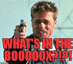 Whats In The Box Meme - brad pitt whats in the box meme generator imgflip