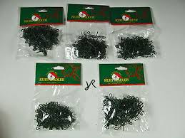 600 silver wire ornament hooks approx 1 1 2 lot of 3 packs of 200
