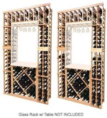 bottle wine rack with diamond bin below