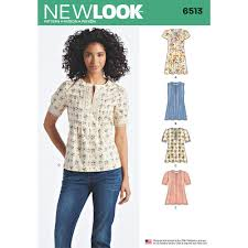 blouse sewing patterns womens dress or top with sleeve and trim variations look