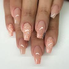 love the color blush peachy glitter nails varm camouflage med