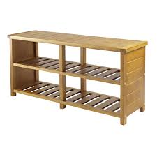 chic entryway bench shoe storage organizer seat hallway cubbies