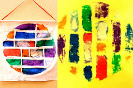 paint tape stencil transfers choices for children