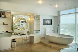 Large Bathroom Mirror Ideas One Large Mirror Or Two Individual Mirrors Over Double Vanity