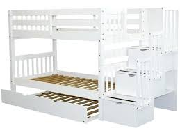 Bunk Bed King Wood Bunk Beds Cheap Stairway White Trundle Bed