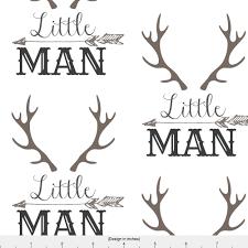 Baby Nursery Fabric Woodland Nursery Fabric Little Man Arrow Horns By