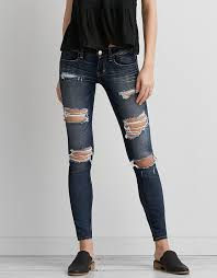 Miss Me Jeggings Aeo Denim X Super Low Jegging Darken Destroy American Eagle
