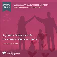 a family is like a circle loving poem about family