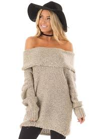 oversized shoulder sweater taupe fold the shoulder oversized sweater lime lush