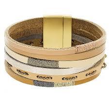 multi bracelet images Multi row leather bracelet panacea jewelry jpg
