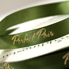personalized wedding ribbon pair personalized wedding ribbon the knot shop