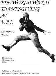 pre wwii thanksgiving at vpi cover