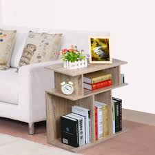 book storage 3 tier accent side end table sofa console book storage shelves