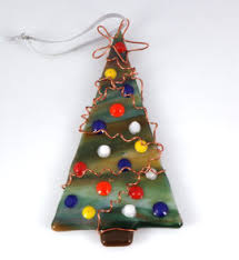 atlantis design fused glass hanging ornaments
