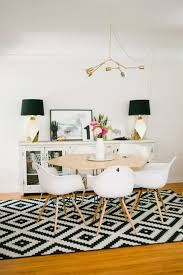 real deal steal a black white and gold dining room the accent