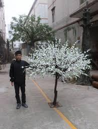mini white artificial flower tree wedding decorative blossom