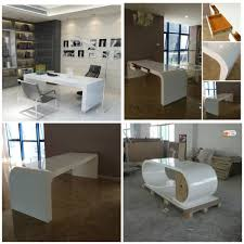 Modern Italian Office Desk Acrylic Office Table Marble Office Furniture White Acrylic Desk