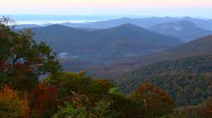 brevard north carolina mountains asheville fall colors blue