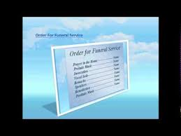 fresh background color free funeral program template for word 2007