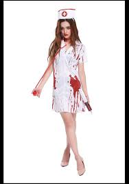 wholesale horror screaming female blood dyeing nurses dress