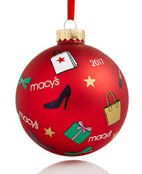 2017 macy s icon glass ornament created for