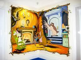 sacredart murals children s murals winnie the pooh mural in playroom