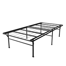 Platform Bed Twin Black Twin Xl Heavy Duty 18 Inch High Rise Metal Platform Bed Frame