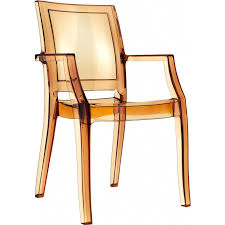Polycarbonate Chairs Polycarbonate Modern Stackable Dining Arm Chair Transparent