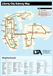 Mta Nyc Map Liberty City Nyc Subway Map Other Maps Nyc Transit Forums