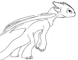 skinny toothless train dragon coloring pages