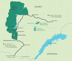 Victoria Falls Map Nanzhila Plains Kafue Lodge Accommodation The Closest True