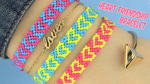friendship heart diy heart friendship bracelets