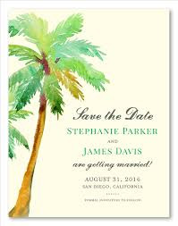 palm tree wedding invitations palm tree wedding save the date paradise island by