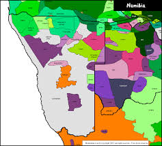 map in language namibia linguistic map