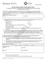 Sample Firefighter Resume The Ontario Dnr Confirmation Form U2014what Your Patients Need To Know