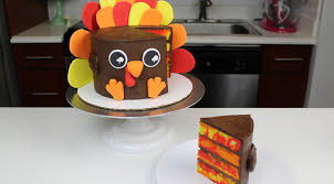thanksgiving turkey cake chelsweets