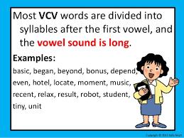 v cv decoding vcv unit 1 lesson 1