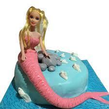 doll cake mermaid doll cake cakenjoy online cake shop ahmedabad