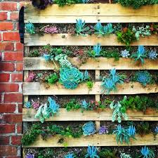 Make A Brick Succulent Planter - the urchin collective recycled pallet vertical wall garden