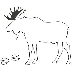 moose template notion moose stencil layer cake friendly animal template