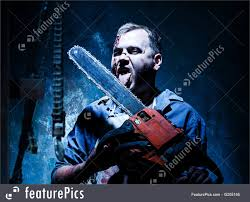bloody halloween background image of bloody halloween theme crazy killer as butcher with