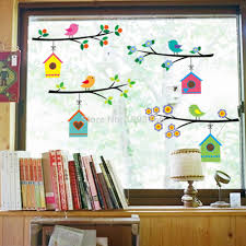 online buy wholesale wall mural window from china wall mural fashion vintage branch bird cage wall stickers removable living room decals mural parlor window kids bedroom