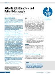 Aktuelle Schrittmacher Und Defibrillatortherapie