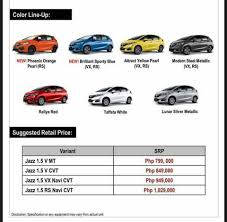 honda brio automatic official review leaked 2018 honda jazz pricing new rs variant for ph auto