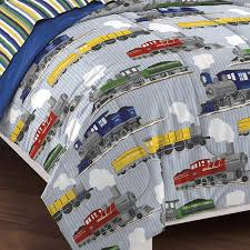 Toddler Train Bed Set by Amazon Com Dream Factory Trains Ultra Soft Microfiber Boys
