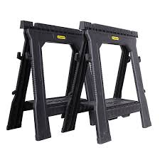 stanley folding work table stanley folding saw horse pack 2 wickes co uk