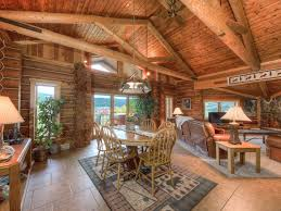 log home open floor plans winter specials cozy log cabin meadow ho vrbo